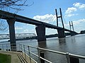 Quincy Memorial Bridge & Quincy Bayview Bridge 2009.jpg
