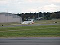 RAAF Super King Air landing at Canberra Airport October 2012.JPG