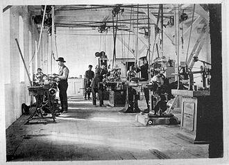 Zastava Arms - Workshop of Zastava Arms in 1910.
