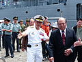 ROCN Fleets Command Department Commander Vice-Admiral Pu Yield Suao Township Mayor Lin First Aboard 20130504.jpg