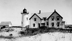 Race Point Lighthouse, Provincetown, Cape Cod,...