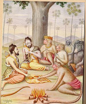Sugriva - Rama Meets Sugreeva