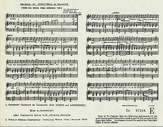 Ramblin' Wreck from Georgia Tech - Image: Rambling Wreck Sheet Music