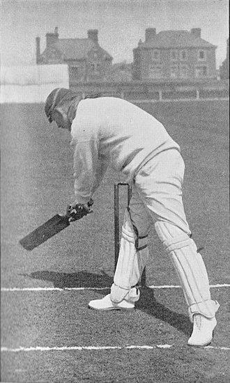 Arthur Shrewsbury - Shrewsbury cutting late at a ball keeping low