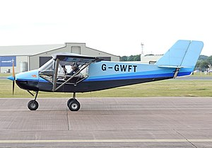 Ercall Wood Technology College - Rans S-6 Coyote II ultralight made by the students of the school arrives at the 2017 RIAT, England