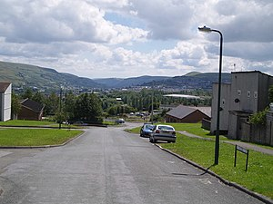 Beaufort, Blaenau Gwent - Rassau looking towards Ebbw Vale
