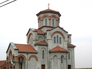 Ravni Topolovac Village in Vojvodina, Serbia