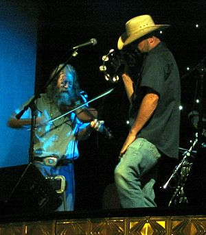 Randy Crouch - Crouch performing with John Cooper of the Red Dirt Rangers