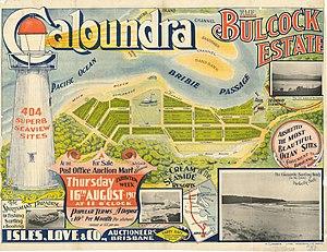 Caloundra - Real estate subdivision of Bulcock Beach, 1917