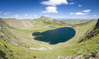 Red Tarn - from the Helvellyn summit
