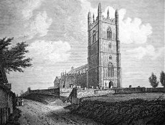 Church of the Assumption of the Blessed Virgin Mary, Redenhall - Engraving of Redenhall Church from 1819 by Thomas Higham