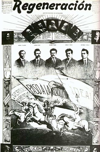 Mexican Revolution - Anti-Diaz newspaper, Regeneración, the official publication of the Mexican Liberal Party (PLM)