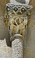 Reich geschmückt, die romanische Apsis (12. Jahrhundert) der Kirche Saint-Vivien-de-Medoc. 8.jpg
