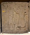Relief orthostat showing a men with swords. From Sam'al citadel. 9th century BC. Museum of the Ancient Orient, Istanbul.jpg