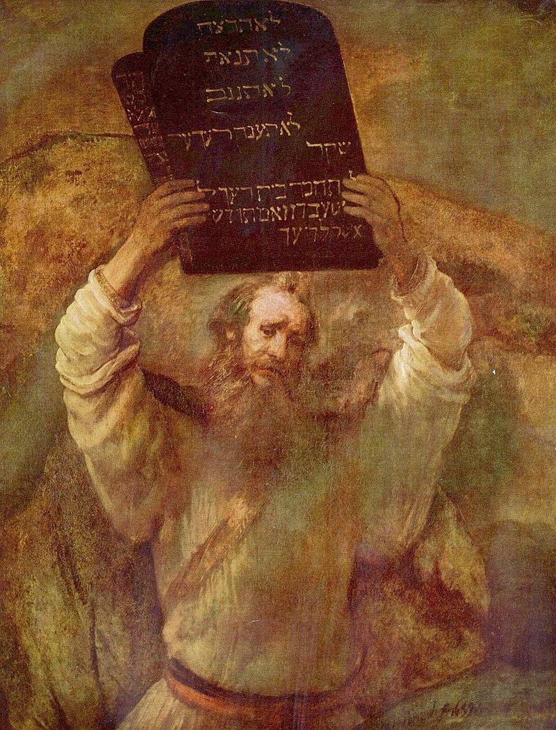 Rembrandt van Rijn, Mojżesz z Dziesięcioma Przykazaniami, (1659)