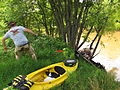 Removing kayaks from Obion River.JPG