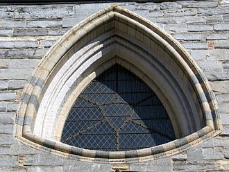 Reuleaux triangle - Reuleaux triangle shaped window of the Church of Our Lady, Bruges in Belgium
