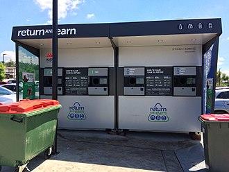 Container deposit legislation in Australia - Reverse vending machine, December 2017.