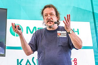 "Richard Gray (game designer) - Image: Richard ""Levelord"" Gray at Geek Picnic 2017 in St Petersburg"