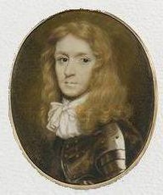 Richard Gibson (painter) - Miniature of an unknown gentleman in armour by Gibson