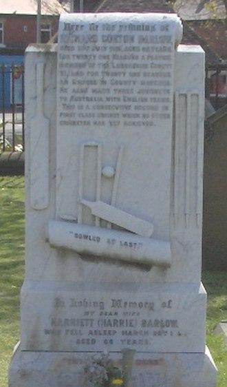 Layton cemetery - Image: Richard Gorton Barlow grave