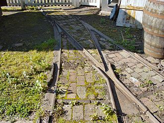 Plateway - A reconstructed section of flangeway track as used by Richard Trevithick's pioneering locomotives at Coalbrookdale and Merthyr