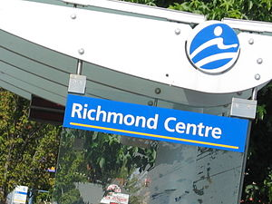 98 B-Line - The stop for Richmond Centre.