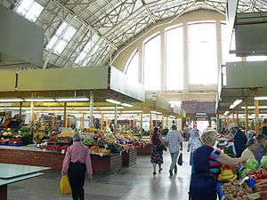 Riga Central Market - Inside one of the Riga Central Market's pavilion