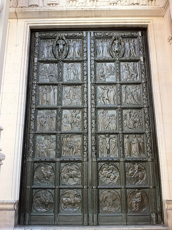 File Right Hand Bronze Door At The Cathedral Of St John