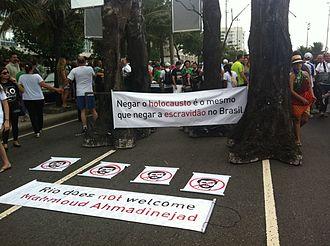 Brazil–Iran relations - Image: Rio does not welcome Mahmoud Ahmadinejad