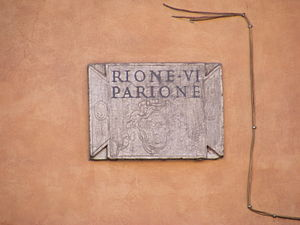 Parione - Sign of the rione
