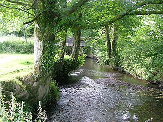 River Ottery - The River Ottery at Canworthy Water