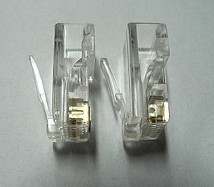 modular connector wow com 8p8c plug contacts for solid wire left and stranded wire right
