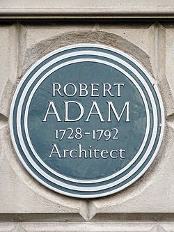 Photo of Robert Adam brown plaque