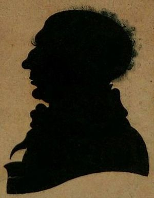 Robert Anderson (poet) - A silhouette of the poet from the 1820s (Tullie House Museum, Carlisle)