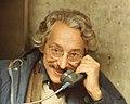 Robert Osserman on a phone, 1984 (re-scanned, portioned).jpg