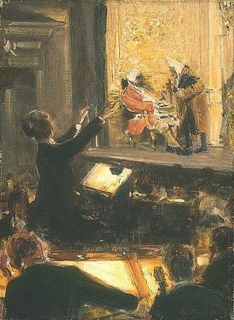 Der Rosenkavalier - Ernst Edler von Schuch conducting 'Der Rosenkavalier'  (1912) by Robert Sterl