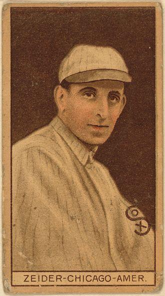 Rollie Zeider - Image: Rollie Zeider baseball card