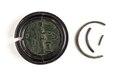 Romerskt bronsmynt, 134-138. Infattat i svarvad ebenholts - Skoklosters slott - 110749.tif