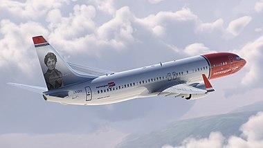 Rosalia de Castro - Boeing 737 Norwegian (cropped) 3.jpg