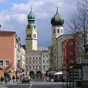 Rosenheim - Rosenheim, churches of St Nikolaus and Holy Spirit
