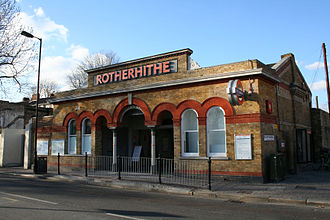 Rotherhithe railway station - Rotherhithe station, January 2012