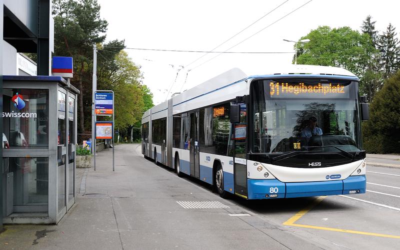 Como andar de ônibus em Zurique