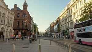 Royal Avenue, Belfast - Royal Avenue in 2011, from its lower end.