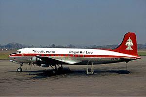 Royal Air Lao - Royal Air Lao Douglas C-54A-10-DC Skymaster in 1975