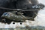 Royal Navy Commando Helicopter Force Merlin HC3-3A, British Army Wildcat AH1 (28167968230).jpg