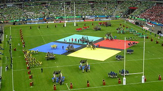 Rugby World Cup - Image: Rugby World Cup 2007Opening Ceremony 1