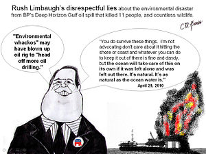 Rush Limbaugh on BP's Gulf of Mexico Oil Spill April 29 2010.jpg