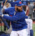 Russell Martin takes batting practice before the AL Wild Card Game. (30156064765).jpg