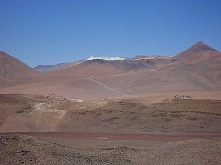 El Laco mountain in Chile